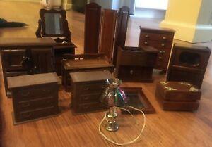 Antique Miniature Dollhouse Furniture Lot 200 Items Ebay