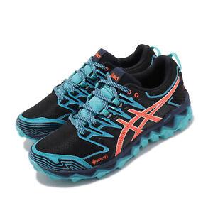 Asics-Gel-Fujitrabuco-7-GTX-Gore-Tex-Black-Blue-Women-Running-Shoes-1012A190-002