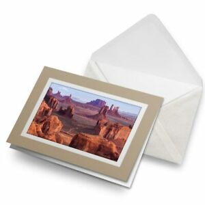 Greetings-Card-Biege-Hunts-Mesa-Monument-Valley-USA-America-24274