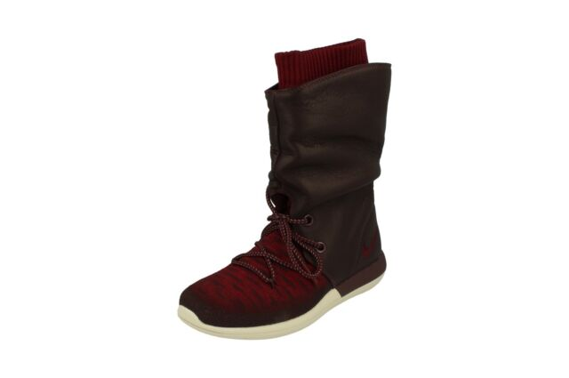 new product d467f 81a84 Nike Womens Roshe Two Hi Flyknit Trainers 861708 Sneakers Boots 600