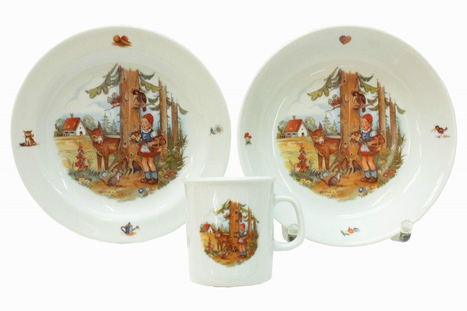 Kindergedeck,Kindergeschirr-Porzellan-Märchenmotive