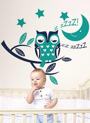 00955 Wall Stickers Sticker Adesivi Murali Buonanotte Gufetto! 100x86cm Design Moderno