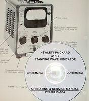 Hp Hewlett Packard 415b Swr Meter Operating &-service Manual (schematics )