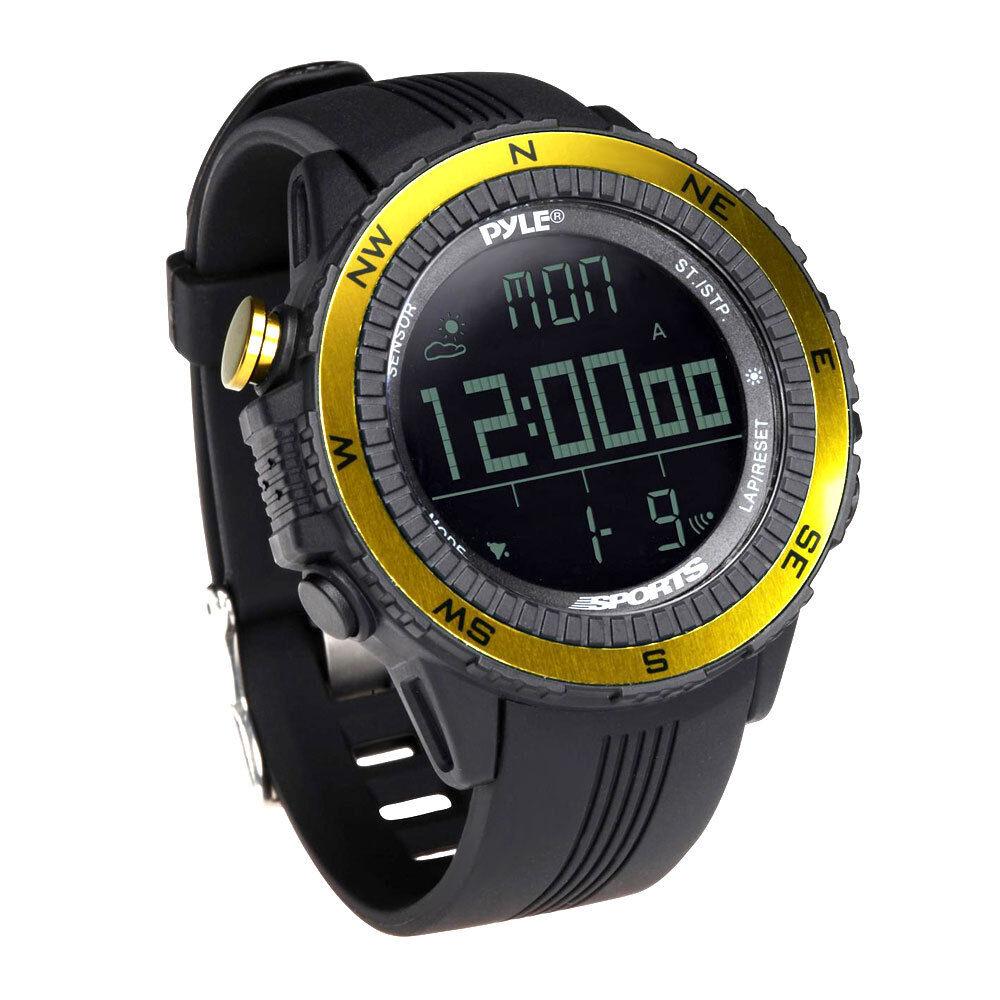 New  Sports Running Watch Digital Multi-function Barometer, Chronograph Yellow