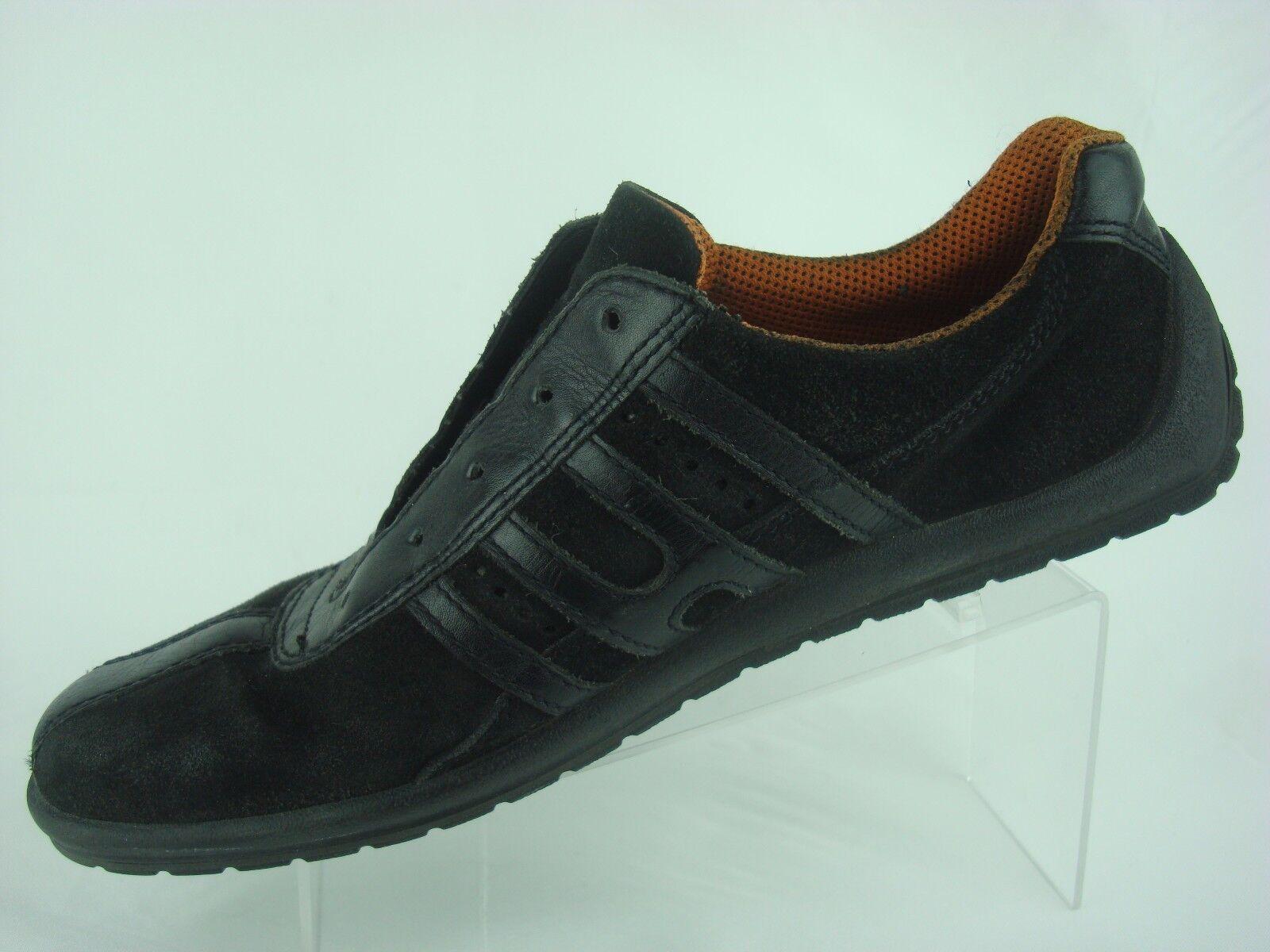 ECCO Black orange Lace Lace Lace Casual Leather Suede Sneaker shoes Women US 10 -10.5 EU 41 df38ef