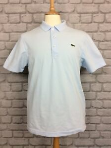Lacoste-Homme-UK-L-FR-5-BLEU-PALE-a-manches-courtes-Polo-Shirt-Homme-Ete-Casual