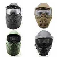 Face Guard Mask With Goggles Neck Protection For Airsoft Tactical Paintball