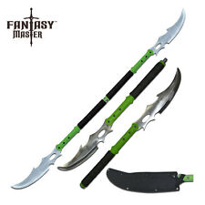 Double Bladed Zombie Oriental Naginata Sword Separates to Make 2 Swords #054GN