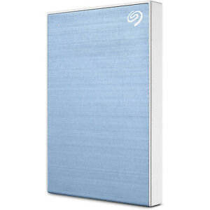Seagate Backup Plus Slim 2TB External Hard Drive Light Blue USB 3.0(STHN20004.