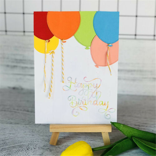 HappyBirthday Alphabet Metal Cutting Dies For DIY Scrapbookings Album Paper FEH