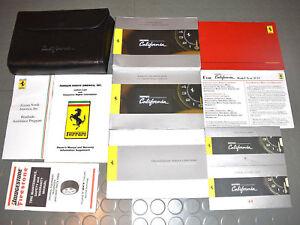 2010 Ferrari California Owners Manual - SET!!!   eBay