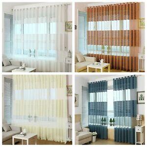 Gardinen Wohnzimmer Vorhange Mit Osen Dekogardinen Schlafzimmer Osenschal Modern Ebay