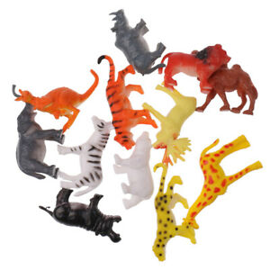 Colorful Small Figures Plastic Realistic Wild Farm Ocean Animals Model Toys