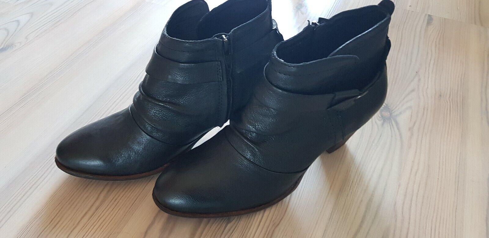 FrotsBRUDER Ankle Stiefel, schwarz, Gr. 38 - neu