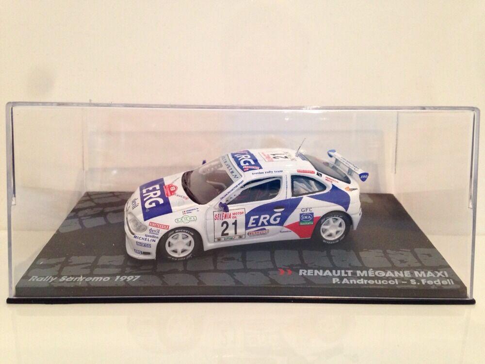 Renault Megane Maxi Maxi Maxi P.Andreucci - S.Fedeli Rally Sanremo 1997 New 1 43 Scale 6ae0a0