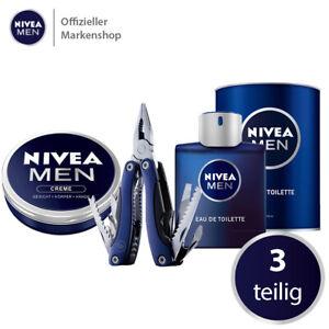 NIVEA MEN Eau de Toilette Set 3tlg. EDT Parfum Parfüm Creme Multitool Geschenk
