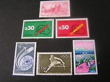 FRANCE, SCOTT # 1344+1345/1346(2)+1347+1348+1349,1972 PICTORAIL ISSUE MVLH