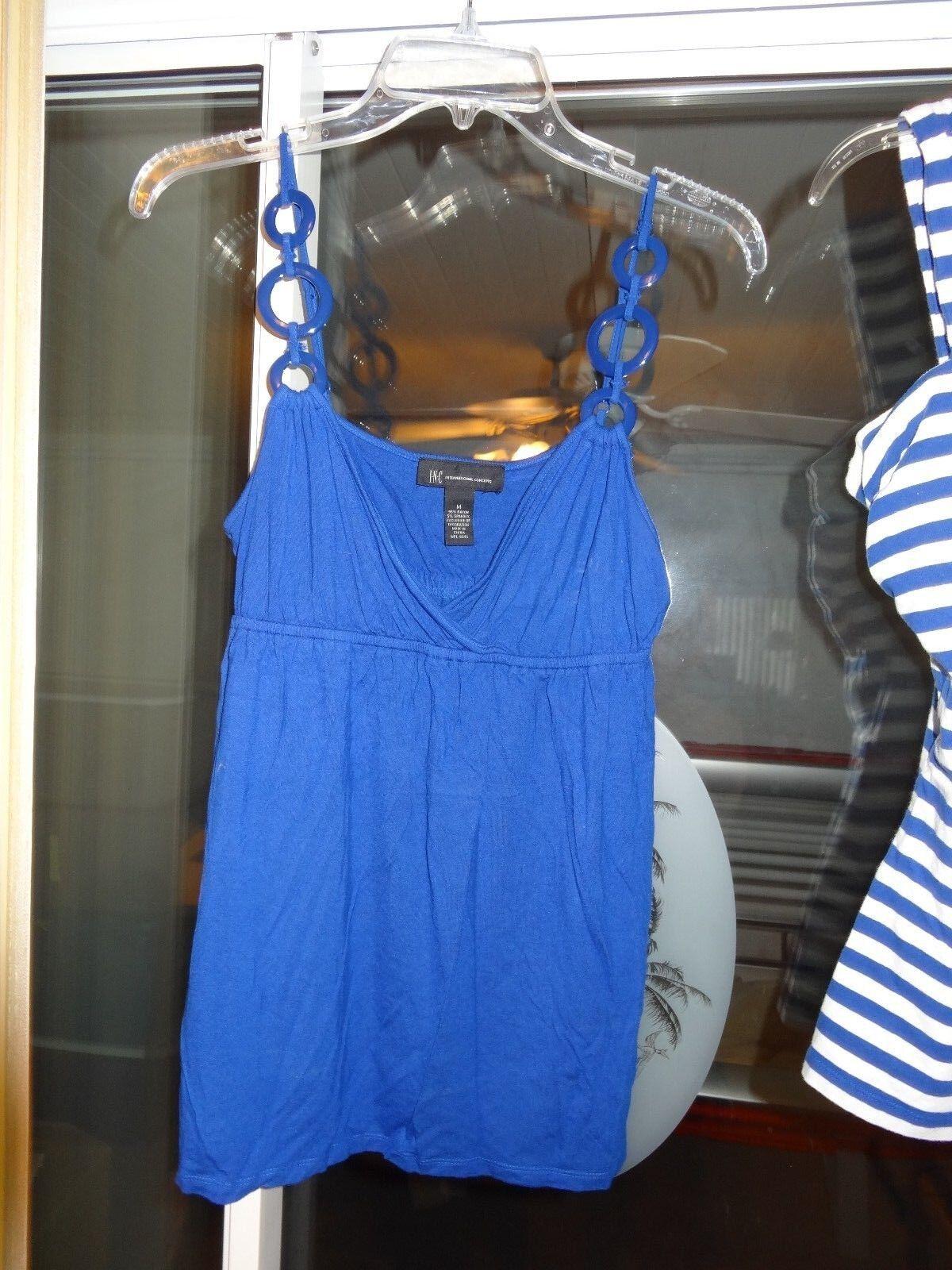 INC INTERNATIONAL CONCEPTS Sleeveless Top Royal Blau Größe Medium