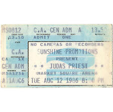 JUDAS PRIEST Concert Ticket Stub INDIANAPOLIS INDIANA 8/12/86 FUEL FOR LIFE TOUR