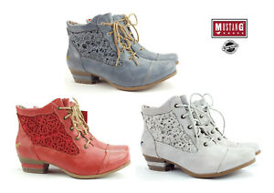 20d57078b28bbe Details about New Mustang Women s Boots Shoes Summer Lace-up Boots Ankle  Boots 1187-501