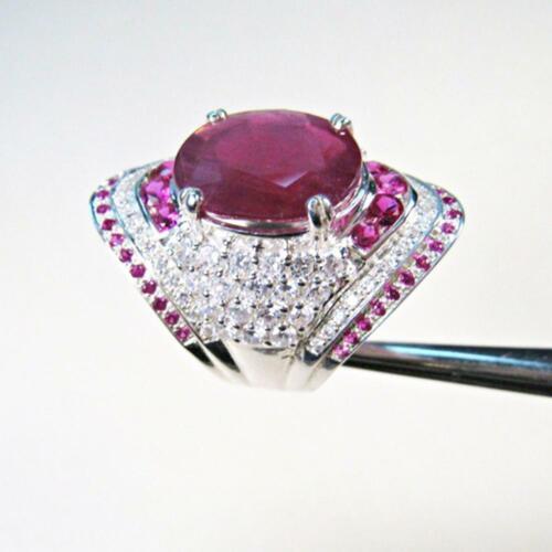 Ring handgefertigten Ring Blue Sapphire Ring und Rose Ruby Ring