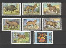 Mongolia 1970 Wolf/Gato/Oso/lince/jabalí/Ovejas/Alce/animales/vida salvaje 8v Set (n11639)