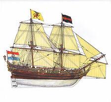 VINTAGE HISTORICAL SAILING SHIP PRINT ~ DUTCH BRIGANTINE 1660