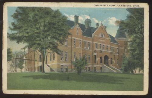 Postcard CAMBRIDGE,OhioOH Children's Home Orphanage view 1920's