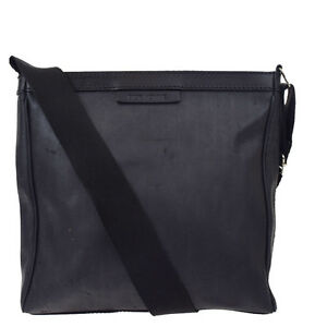6bab5ca225bd Authentic Dior Homme Cross Body Shoulder Bag PVC Leather Black Italy ...