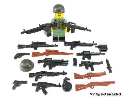 BULK LOT OF 35 NEW World War 2 Weapons Accessories Modern War Minifigure