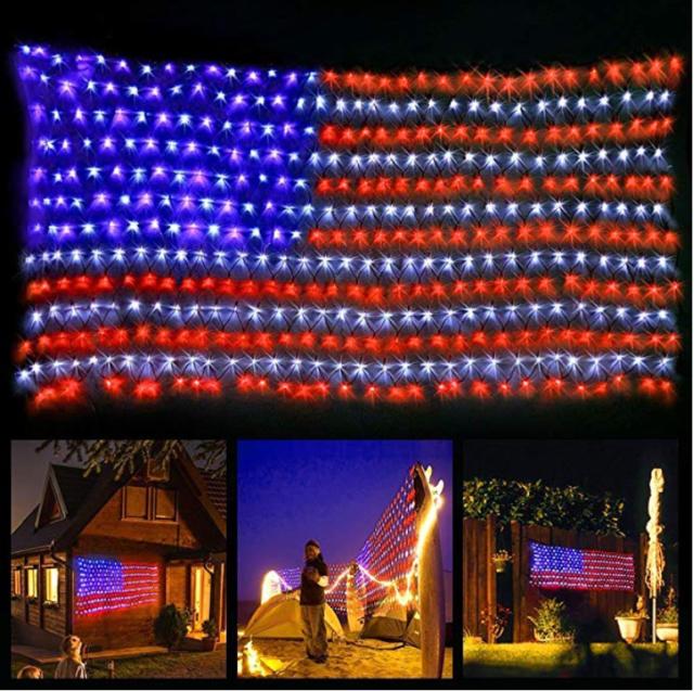 Yuliang 6 5ft 3 2ft Led Flag Net Lights Of The United States For Festival