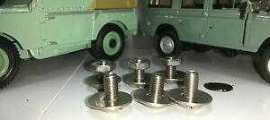 Land-Rover-Serie-2-2A-Dash-Instrumententafel-Edelstahl-Sicherungs-Schrauben