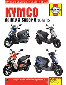 Haynes-Manual-6034-Kymco-Agility-amp-Super-8-Scooters-05-15-service-amp-repair