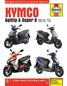 Haynes-Manual-6034-for-Kymco-Agility-amp-Super-8-Scooters-05-15-service-repair