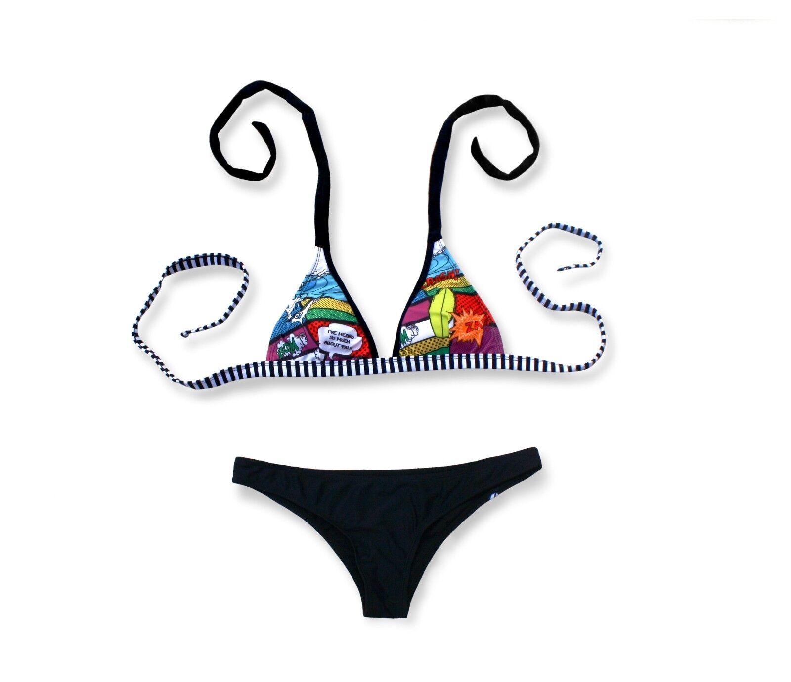 'Comikrow' Bikini by kKrows. Brazilian Style Girls Swimwear. Juniors Size Large.