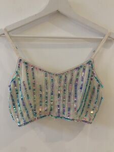 TURQUOISE-SEQUIN-CROP-TOP-8-GLAM-FESTIVAL-BEACH-HOLIDAY-SUMMER-IBIZA-MARBS-CUTE