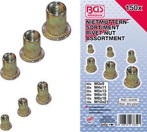 150-insert-a-river-ecrou-aveugle-filete-M3-M4-M5-M6-M8-M10-acier-galva-rivet