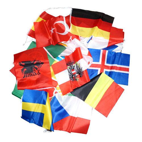 Wimpelkette Wimpelfahne Länderkette Fahnenkette Länderkette Wimpelfahne Girlande EM 2016 Großhandel f3f124