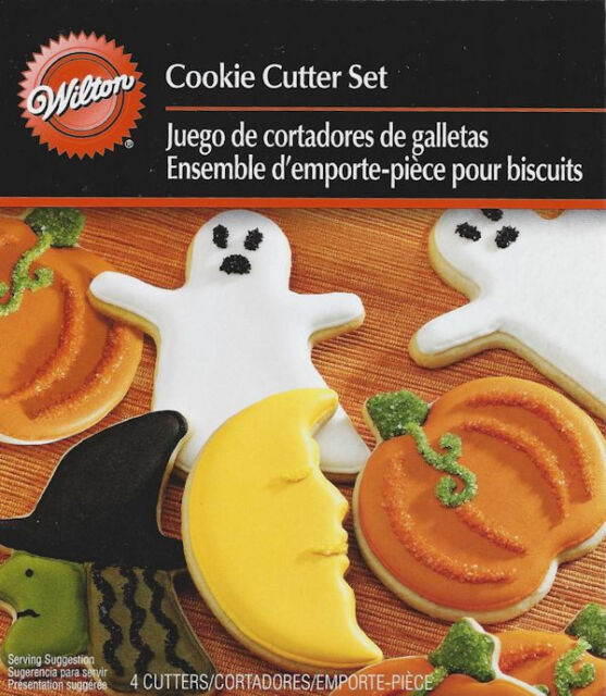 4 - pc. Halloween Spooky Shapes Metal Cutter Set from Wilton #1200 - NEW