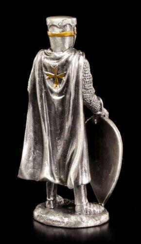 Estaño Ritter-Michon maltes con escudo y espada-Veronese la edad media Guerrero