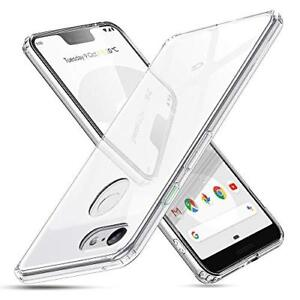huge selection of 47d57 b51f7 Details about ESR Mimic Tempered Glass Case Compatible for Google Pixel 3  XL, 9H Tempered Back