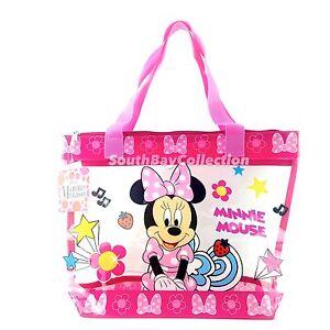 Disney Pink Minnie Mouse Kids Girls Transparent Clear PVC Beach ...