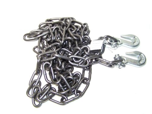 1/4 X 20ft H D Tow Chain With Hooks Towing Pulling Secure Truck Cargo Chains