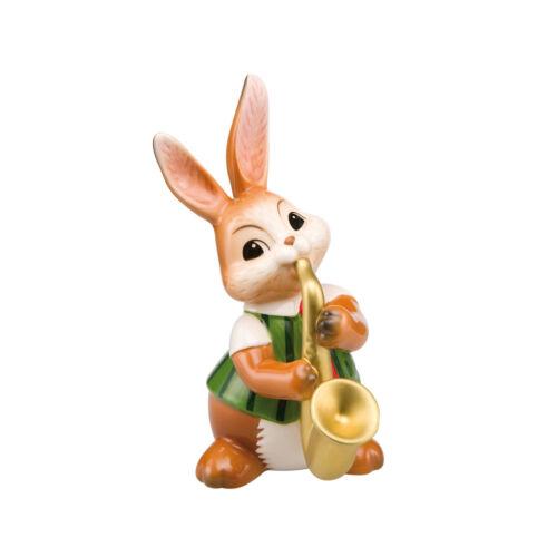 Goebel Hase mit Saxophon Saxophonspieler Musikkapelle Ostern Neuheit 2019