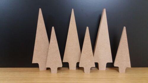Mdf 18mm Free Standing Primitive Christmas Tree 14.5cm /& 20cm