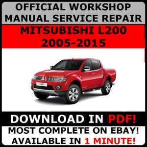 OFFICIAL-WORKSHOP-Service-Repair-MANUAL-for-MITSUBISHI-L200-2005-2015
