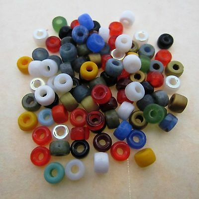 RED 6MM CRAFT CROW BEADS PACK 100