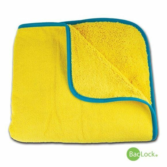 Norwex 2 Kids Towel - Yellow - teal trim