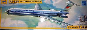 Ilyushin-IL-62-Aeroflot-Stampo-Nuovo-Zvezda-Kit-1-144-7013-Nuovo
