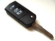 Mazda 2 3 5 6 MX5 RX8 3 Button Flip Remote Key Fob Case + Blank Right Blade Key